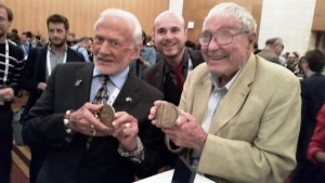 Walter and buzz aldrin and Jim Burke